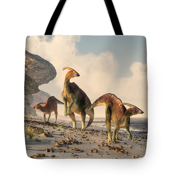 Prehistoric Beachcombers Tote Bag by Daniel Eskridge