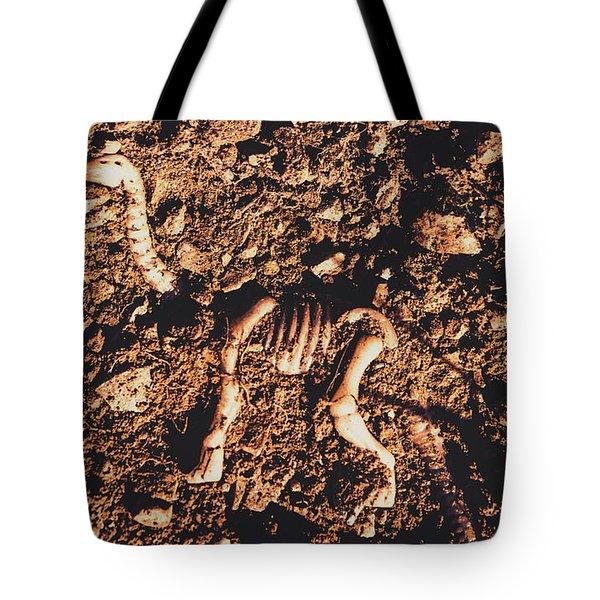 Prehistoric Diplodocus Bones Tote Bag