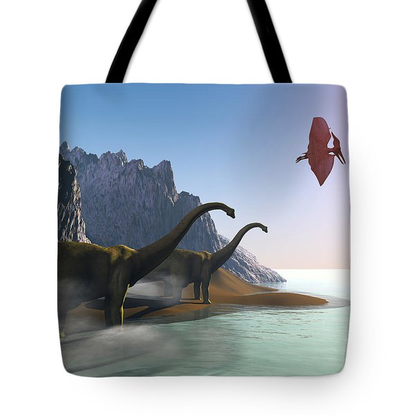 Prehistoric World Tote Bag by Corey Ford