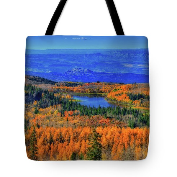 Prelude In Gold And Blue Tote Bag