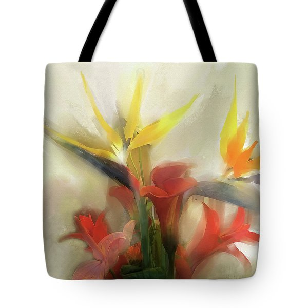 Tote Bag featuring the digital art Prelude To Autumn by Gina Harrison