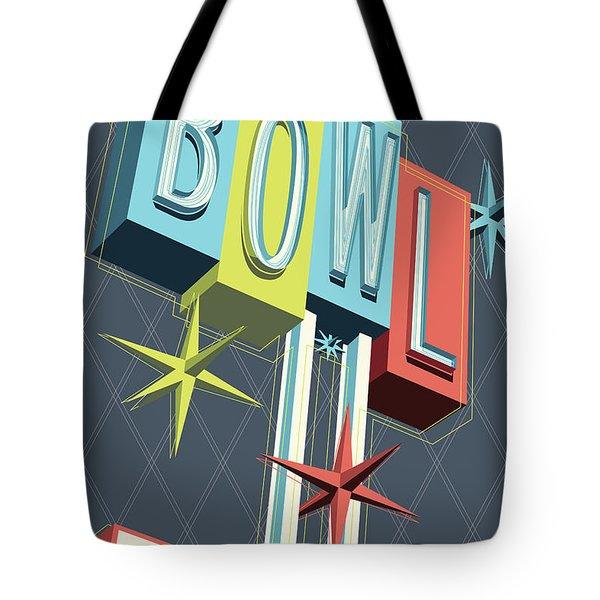 Premiere Lanes Bowling Pop Art Tote Bag