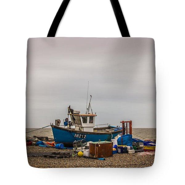 Preparing For The Sea Tote Bag by David Warrington