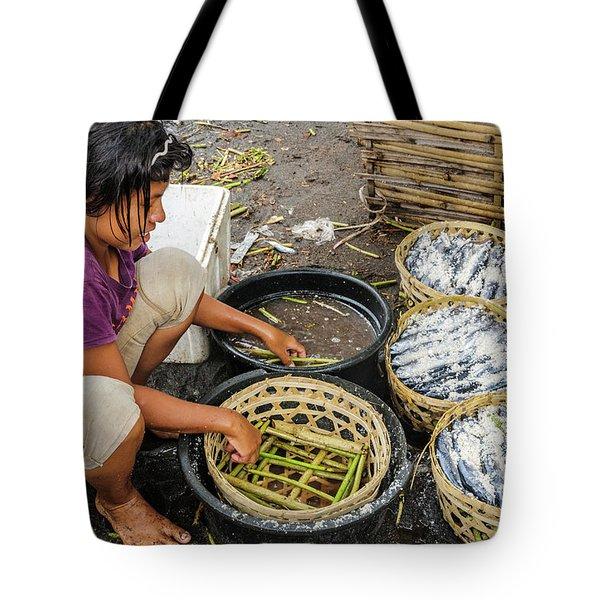 Preparing Pindang Tongkol Tote Bag by Werner Padarin