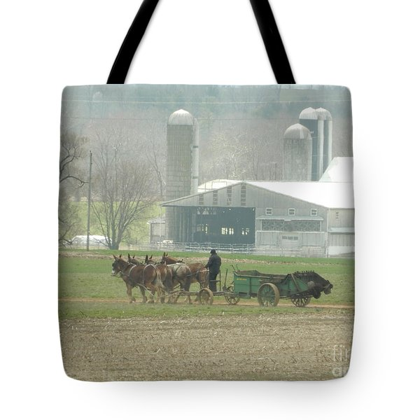 Preparing The Field-two Tote Bag