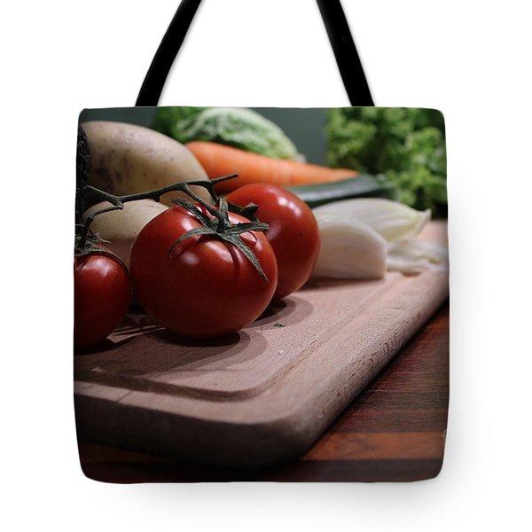 Preparing Vegetables For Cooking Food Tote Bag