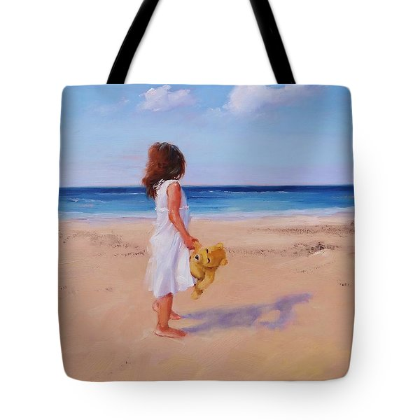 Tote Bag featuring the painting Precious Moment by Laura Lee Zanghetti