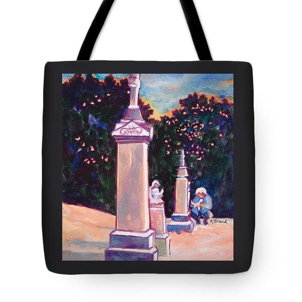 Present Meets Past Tote Bag by Kathy Braud