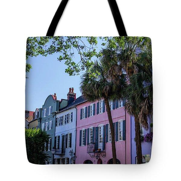 Presenting Rainbow Row  Tote Bag