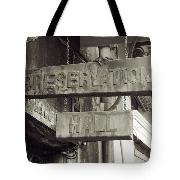 Preservation Hall, French Quarter, New Orleans, Louisiana Tote Bag
