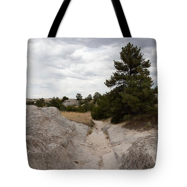 Preserved Wagon Ruts Of The Oregon Trail On The North Platte River Tote Bag by Carol M Highsmith
