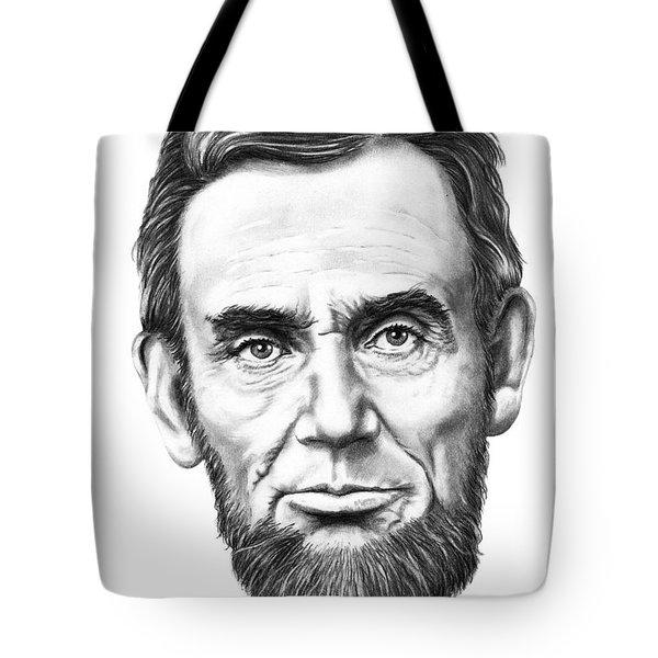 President Abe Lincoln Tote Bag by Murphy Elliott
