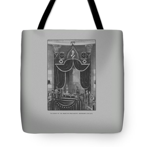 President Abraham Lincoln Lying In State Tote Bag by War Is Hell Store