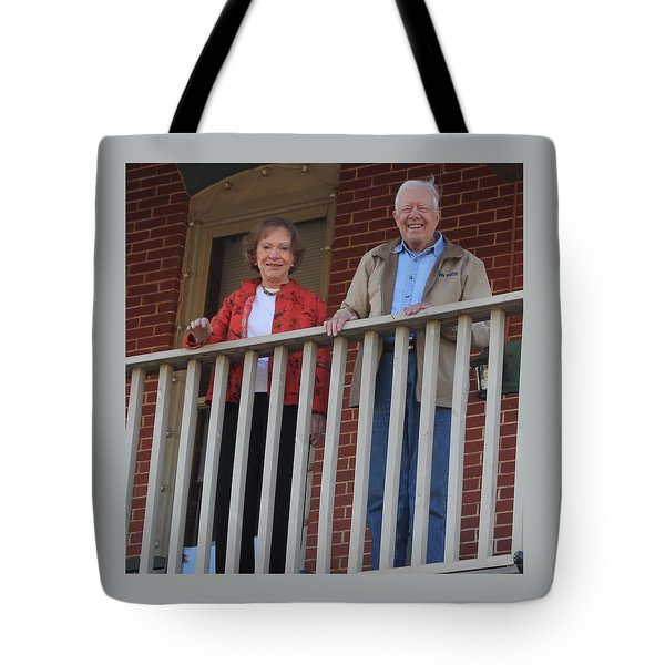 President And Mrs Carter On Plains Inn Balcony Tote Bag