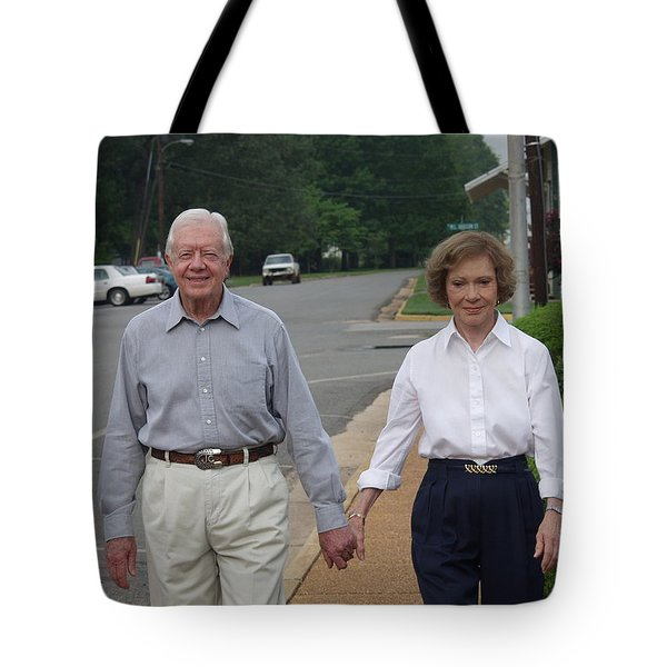 President And Mrs. Jimmy Carter Tote Bag