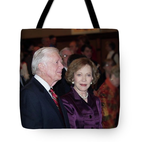 President And Mrs. Jimmy Carter Nobel Celebration Tote Bag