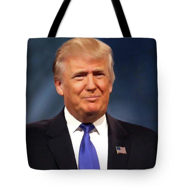 President Donald John Trump Portrait Tote Bag