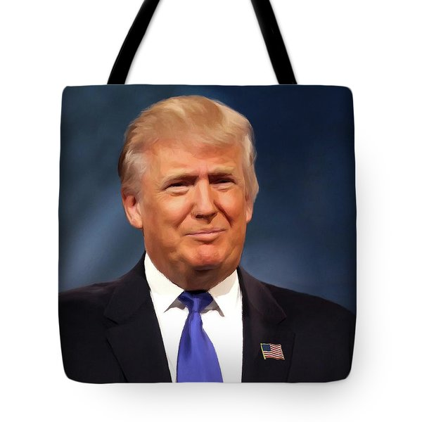 President Donald John Trump Portrait Tote Bag by Movie Poster Prints