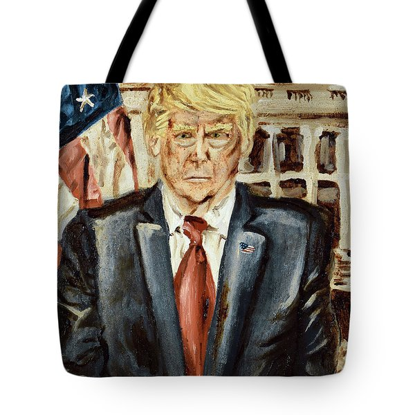 Tote Bag featuring the painting President Donald Trump by Ryan Demaree