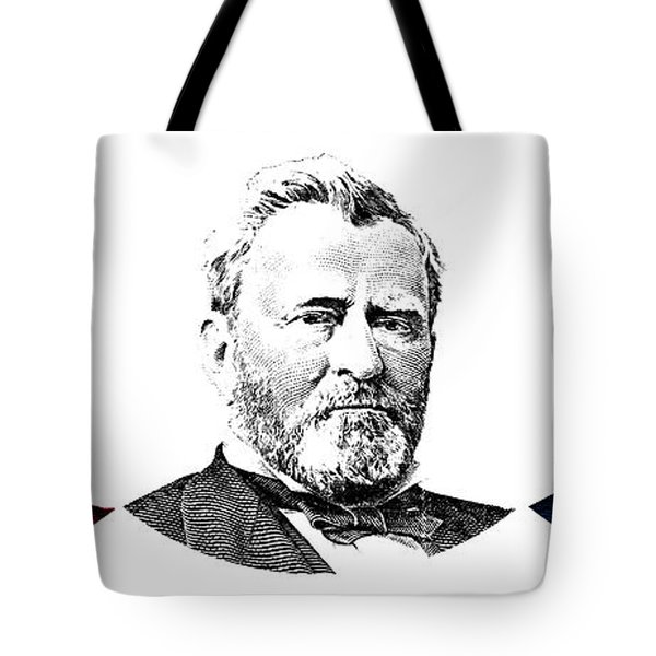President Grant Red White And Blue Tote Bag