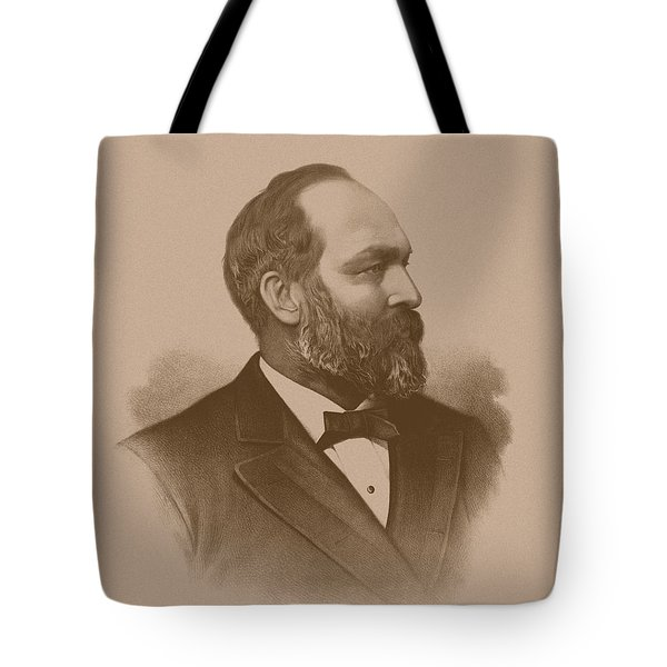 President James Garfield Tote Bag by War Is Hell Store