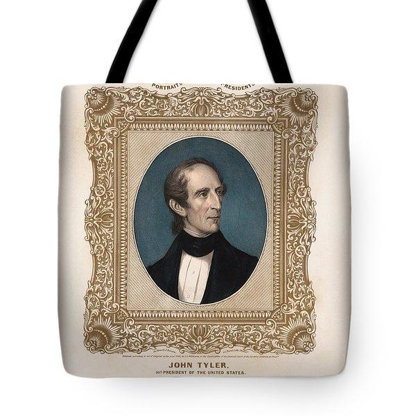 President John Tyler - Vintage Color Portrait Tote Bag