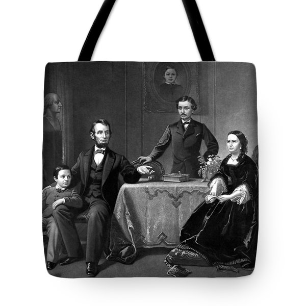 President Lincoln And His Family  Tote Bag