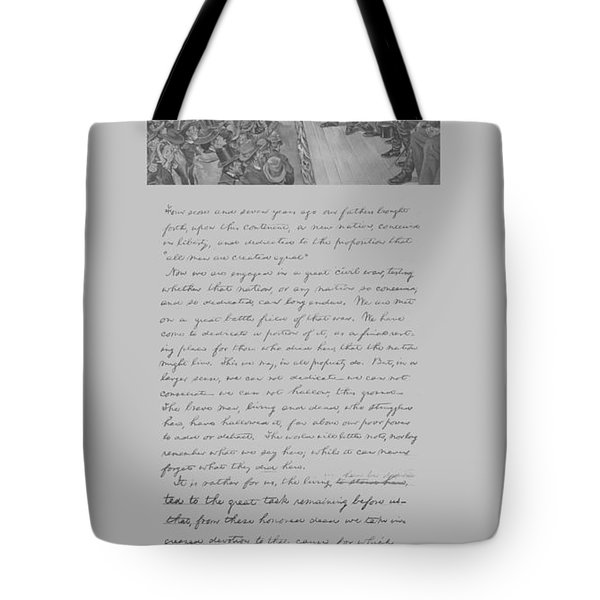 President Lincoln And The Gettysburg Address Tote Bag