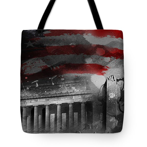 Tote Bag featuring the painting President Lincoln  by Gull G