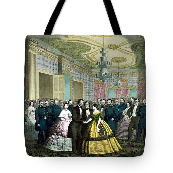 President Lincoln's Last Reception Tote Bag