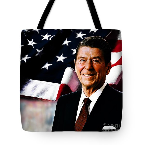 President Ronald Reagan Tote Bag by Gull G