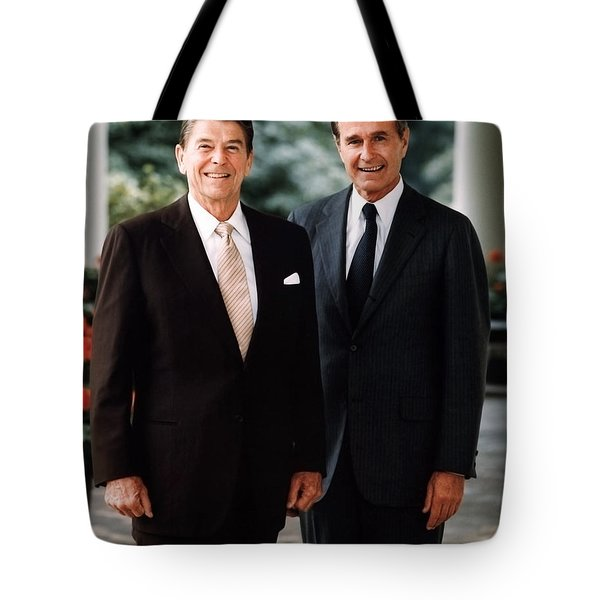 President Reagan And George H.w. Bush - Official Portrait  Tote Bag