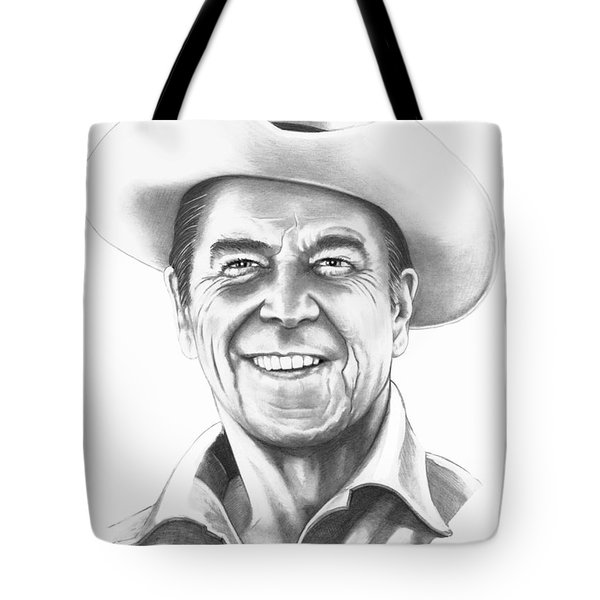President Ronald Regan Tote Bag by Murphy Elliott