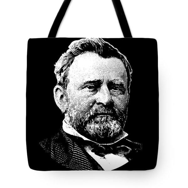 President Ulysses Grant Graphic - Black And White Tote Bag