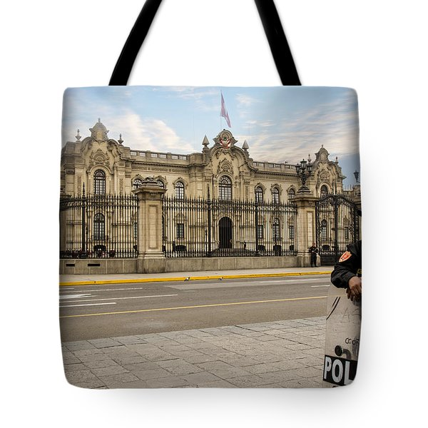 Presidential Palace In Lima Tote Bag