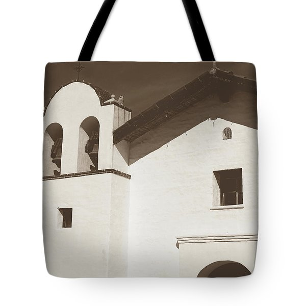 Presidio Chapel- Art By Linda Woods Tote Bag