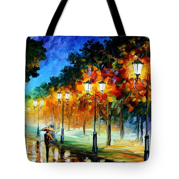 Prespective Of The Night Tote Bag by Leonid Afremov