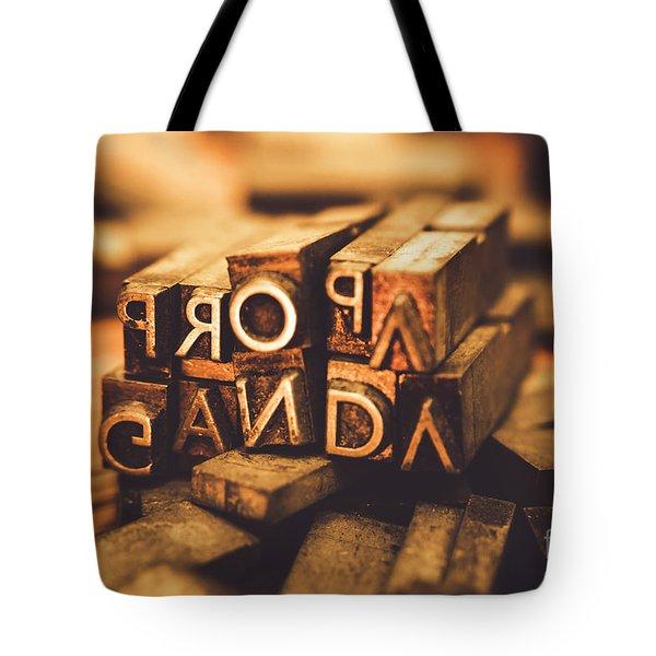 Press Of Propaganda Tote Bag