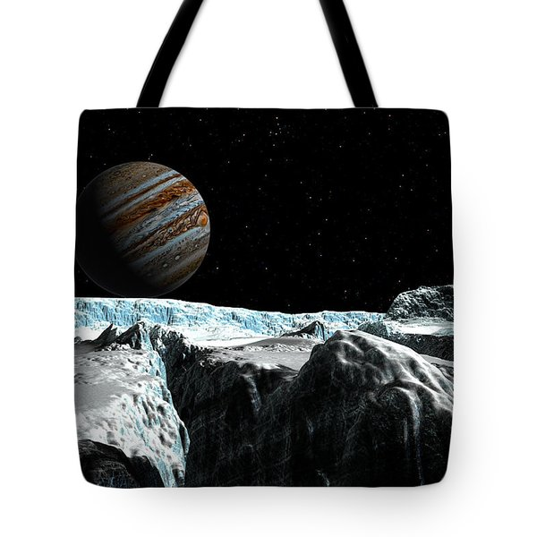 Tote Bag featuring the digital art Pressure Ridge On Europa by David Robinson