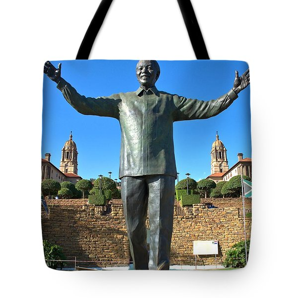 Pretoria Union Houses And Mandela Tote Bag by Steven Richman