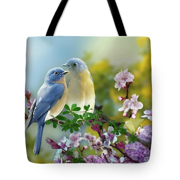 Pretty Blue Birds Tote Bag