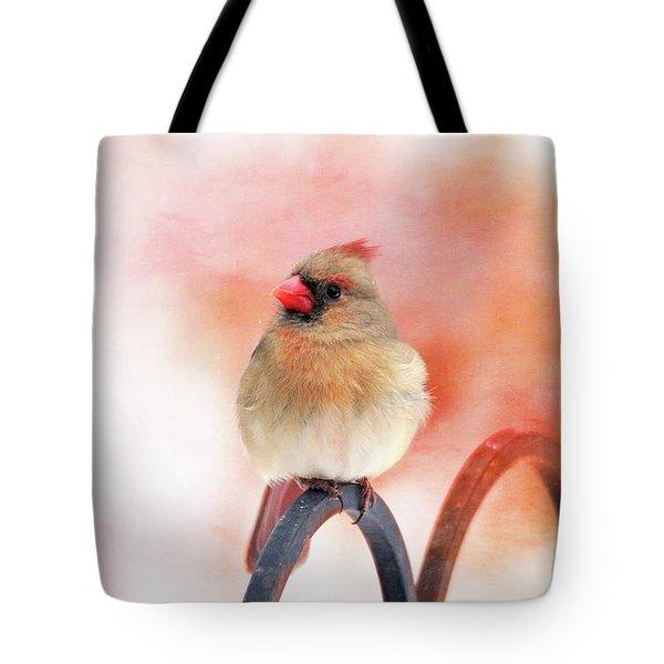Pretty Cardinal Tote Bag by Trina Ansel