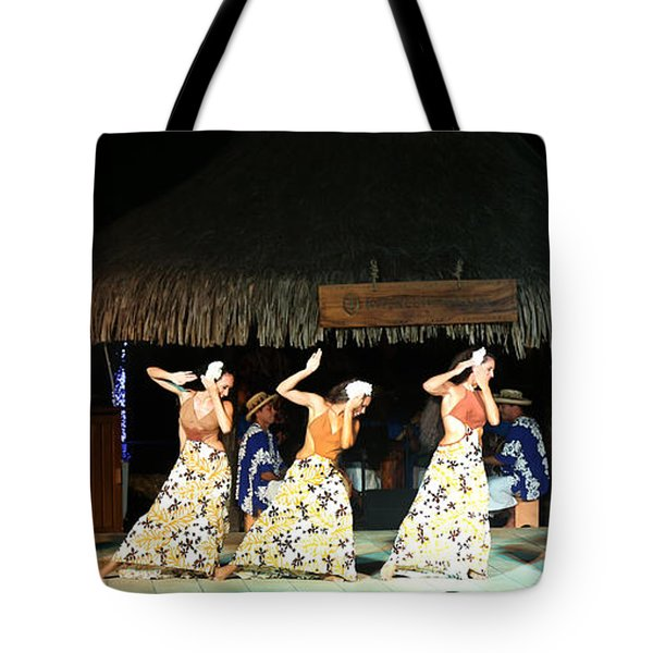 Pretty Dancers In Tahiti Tote Bag