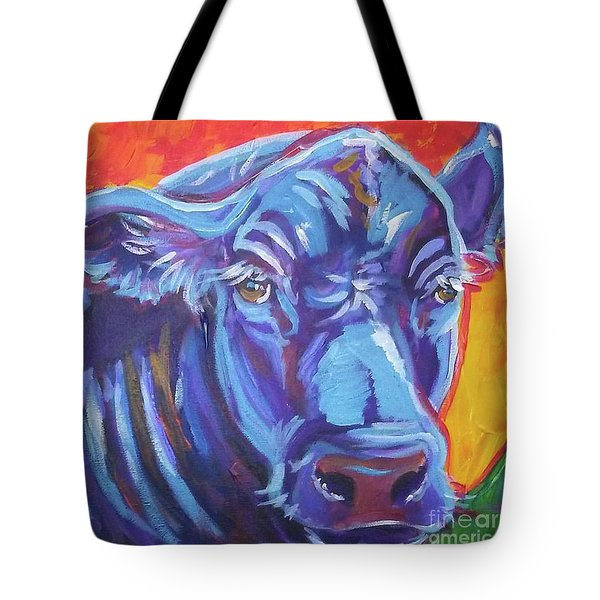 Tote Bag featuring the painting Pretty Face Cow by Jenn Cunningham