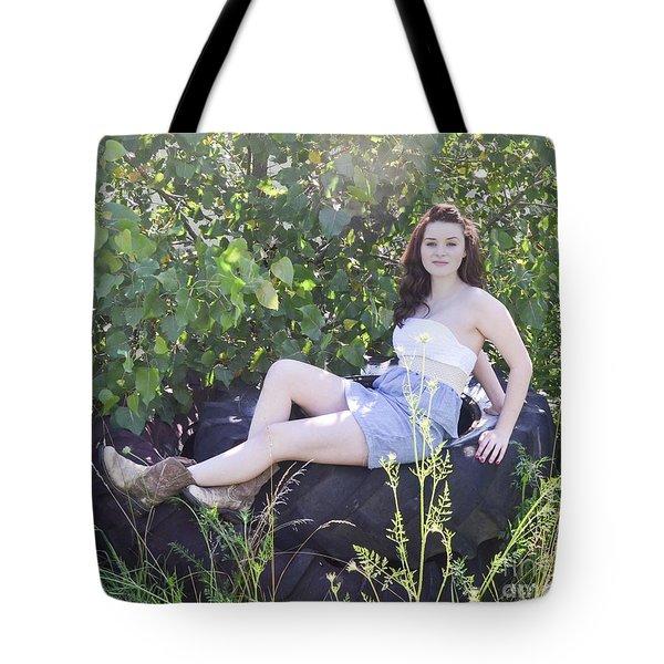 Pretty Farm Girl Tote Bag