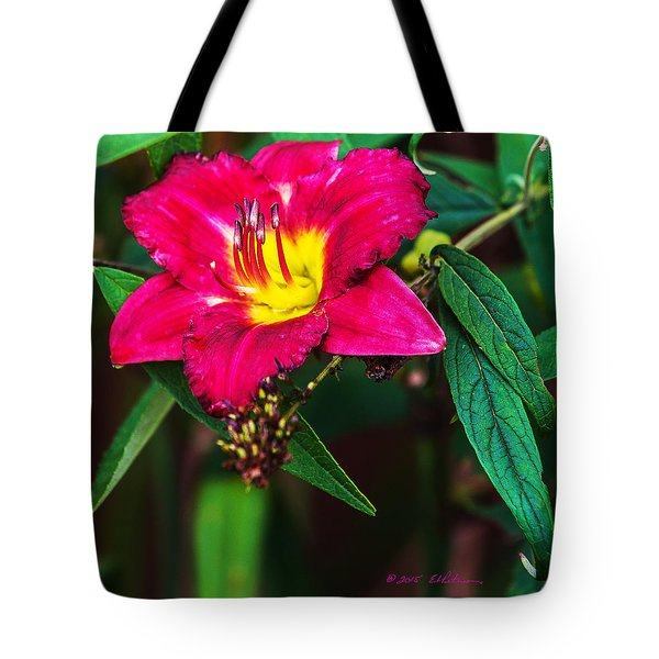Tote Bag featuring the photograph Pretty Flower by Edward Peterson