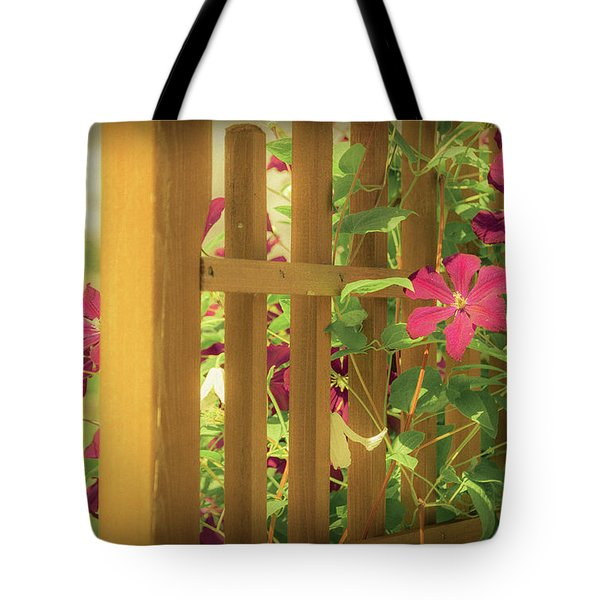 Pretty Flower Garden Tote Bag