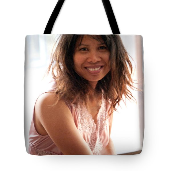 Tote Bag featuring the painting Pretty Girl by Jeremy Holton