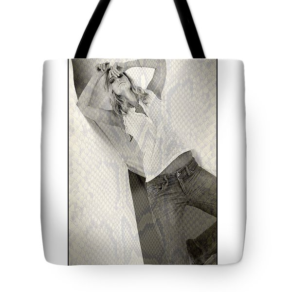 Pretty Girl On Her Knees Tote Bag