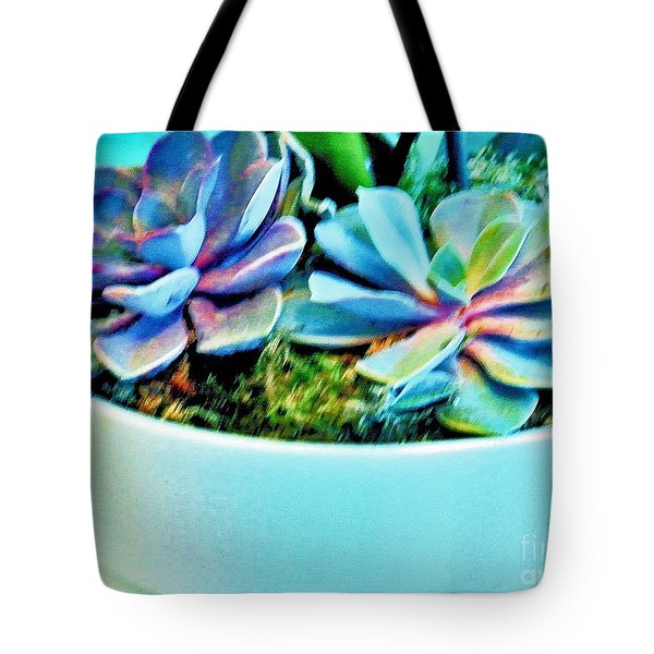 Pretty Hens And Chicks Tote Bag by Marsha Heiken